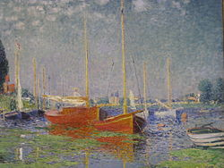 Claude Monet: Red Boats at Argenteuil