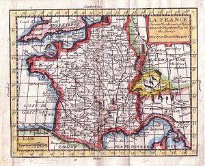 Claude Buffier - Claude Buffier, map of France.