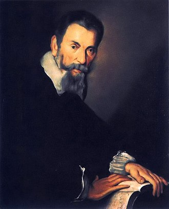 Madrigal - Claudio Monteverdi in 1640 by Bernardo Strozzi. Monteverdi was the most influential composer of madrigals after 1600. Gallerie dell'Accademia, Venice.