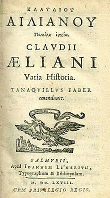 220px Claudius Aelianus Varia Historia 1668 Title page Claudius Aelianus considered Macedonians as Greeks