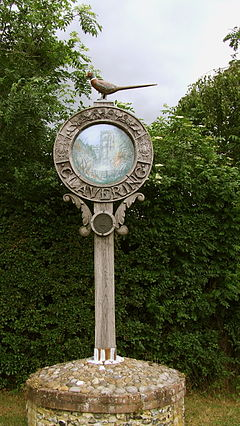 Clavering Essex village sign.JPG