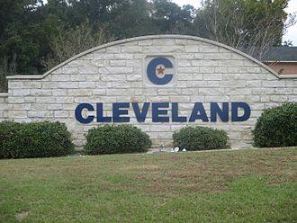 Cleveland, Texas - Image: Cleveland, TX sign IMG 8259