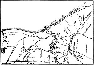 Cleveland Short Line Railway - Map showing the route of the Cleveland Short Line and other area railroads in 1907.