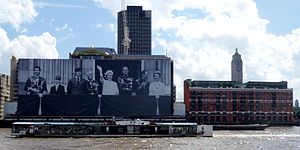 Silver Jubilee of Queen Elizabeth II - Sea Containers House decorated for Queen Elizabeth II's Diamond Jubilee.