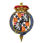 Coat of arms of George Spencer, 4th Duke of Marlborough, KG, PC, FRS