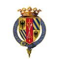 Coat of arms of Guidobaldo da Montefeltro, 2nd Duke of Urbino, KG.png