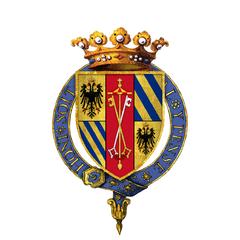 Coat of arms of Guidobaldo da Montefeltro, 2nd Duke of Urbino, KG