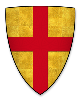 Roger Bigod, 2nd Earl of Norfolk - Arms adopted by Roger Bigod, 2nd Earl of Norfolk, at the start of the Age of Heraldry c.1200-1215 (dropped post-1269 by Roger Bigod, 5th Earl of Norfolk): Or, a cross gules