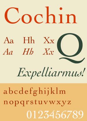 Cochin (typeface) - Image: Cochin