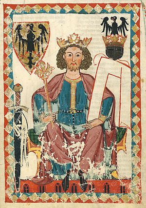 Henry VI, Holy Roman Emperor - Portrait from the Codex Manesse, circa 1304