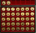 Collection of one pahlavi gold coins.jpg