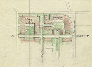 Thomas Hastings (architect) - Image: Color sketch Yale University Quadrangle by architect Thomas Hastings