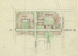 Thomas Hastings (architect) - Image: Color sketch Yale University Quadrangle by architect Thomas Hastings