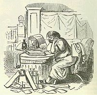 Comic History of Rome p 240 Scipio Aemilianus cramming himself for a Speech after a hearty Supper.jpg