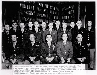 RAF Bushey Hall - Commanding officers of the Fighter Groups of the 8th Air Force in 1944