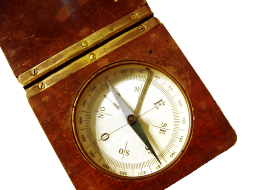 Compass in a wooden frame