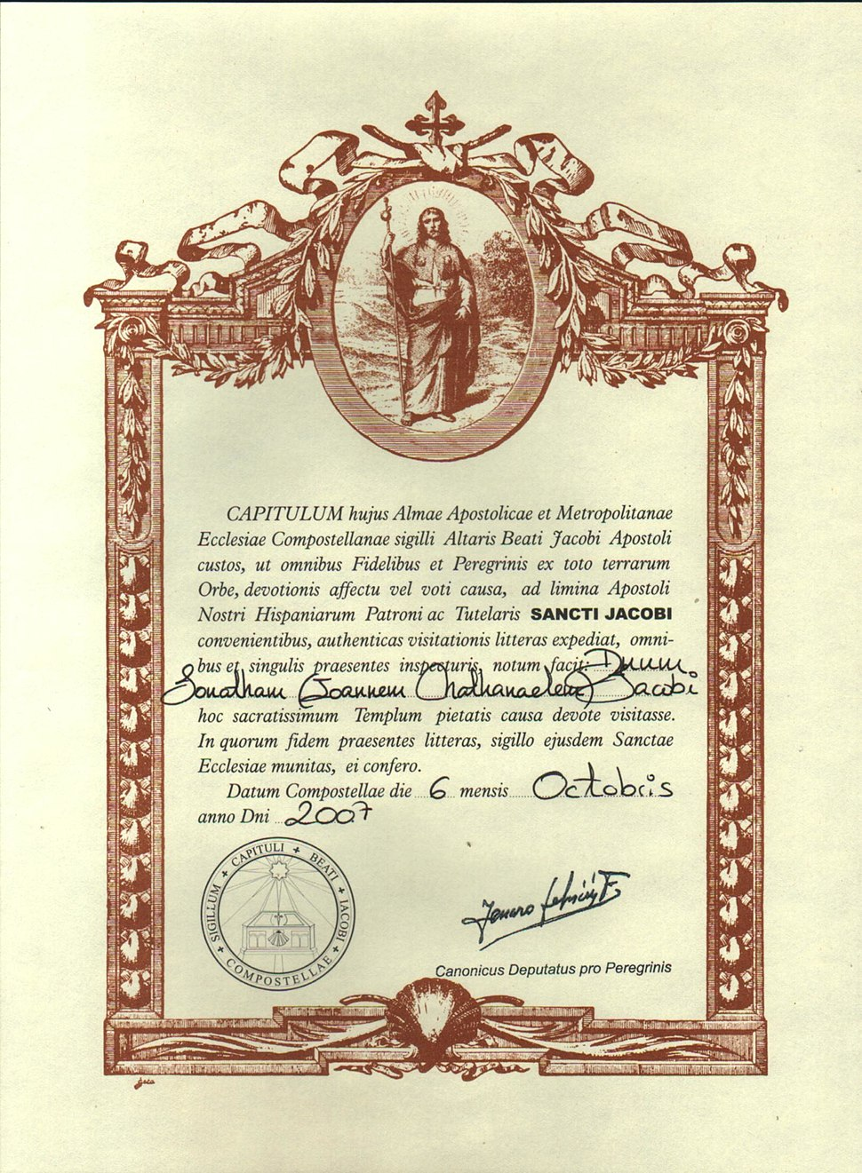Compostelacertificate