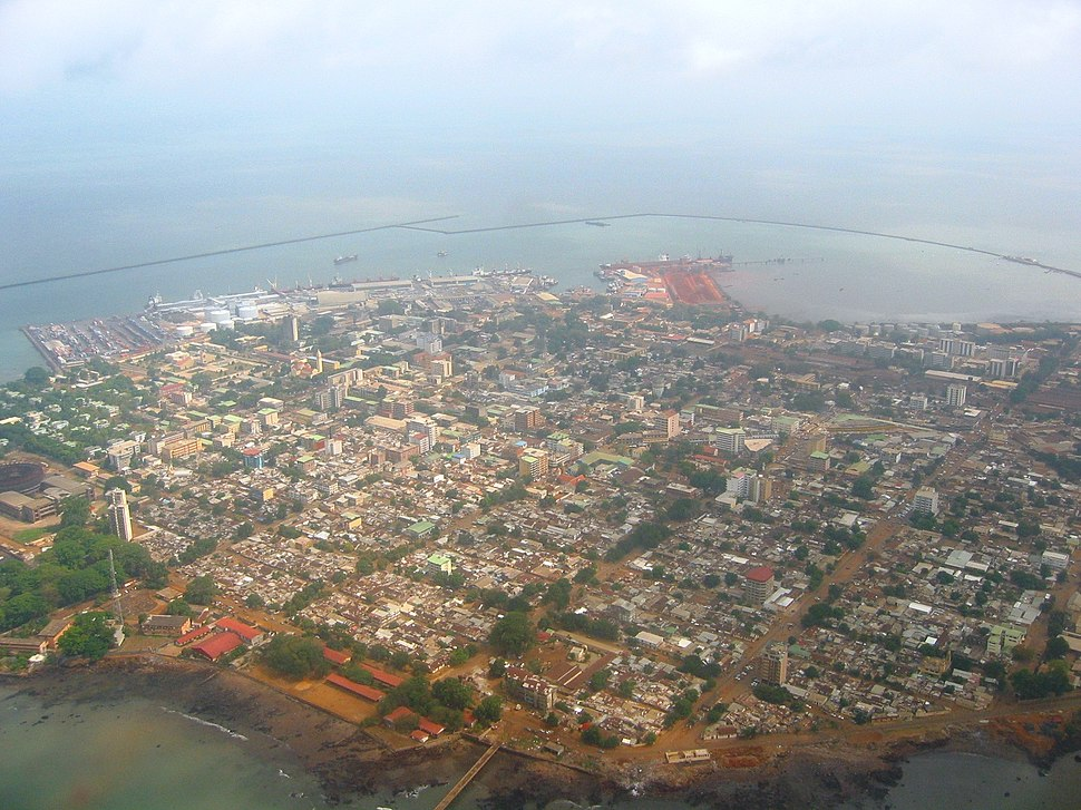 Aerial view of Conakry, Guinea