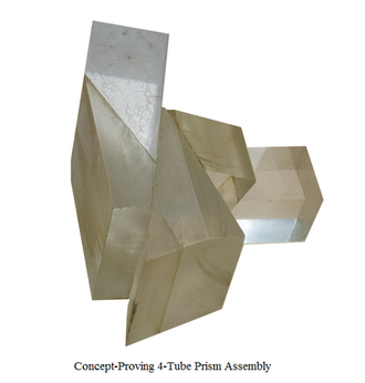 EMI 2001 - Early 'concept prism assembly', where the individual prisms were machined from Perspex