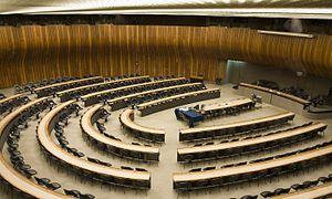 Palace of Nations - A conference room in the Palace of Nations