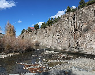 Henson Creek - The confluence of Henson Creek (left) and Lake Fork Gunnison River in Lake City, Colorado.