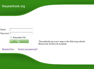 ConnectU - Screenshot of Connecthi.com (aka theyearbook.org) in February 2005