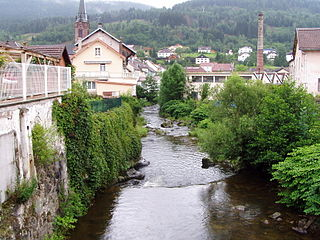 Moselotte river in France