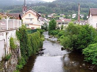 Moselotte - The Moselotte flowing through Cornimont