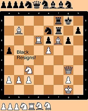 Correspondence chess - Sample image of a chess variant that can be played on the internet.