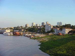 Corumbá - View Corumbá from the River Paraguay
