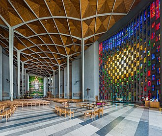 Coventry Cathedral - The interior of the new cathedral.