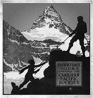 Mount Assiniboine - Canadian Pacific Railways ad c. 1917