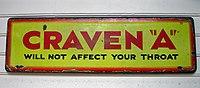 Vintage Craven A sign