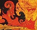 Creature detail, 'The Dhyani Buddha Akshobhya', Tibetan thangka, late 13th century, Honolulu Academy of Arts (cropped).jpg