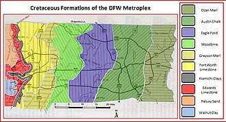 Geology of the Dallas–Fort Worth Metroplex - Cretaceous Formations of the Dallas-Fort Worth Metroplex
