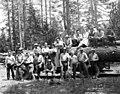 Crew posing with logging truck, George Scott Lumber Company, Susanville, ca 1922 (KINSEY 2327).jpeg