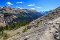 Crossing the Iceline trial…looking down to the falls, the Yoho Valley and Mt Victoia on the right horizon (7897939478).jpg