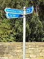 Cycleway signs, Garden City, Deeside.JPG