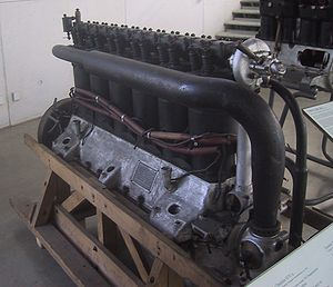 Mercedes D.IVa - Mercedes D.IVa at the Deutsches Museum. The prominent black piping is the inlet manifold from the carburetor