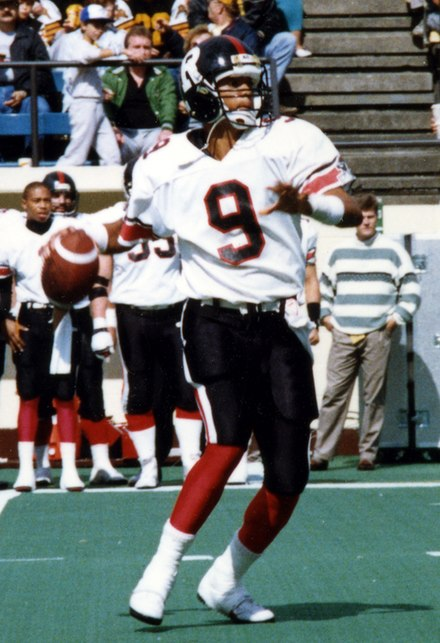 Damon Allen is the CFL's all-time leader in both rushing yards and rushing touchdowns for a quarterback. Damon Allen Ottawa.jpg