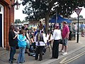 Dancers and visitors enjoy a break from the Hop Festival celebrations - geograph.org.uk - 944103.jpg