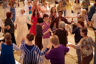 Day to Praise - Dancing at the central Day to Praise event, 12 May 2016