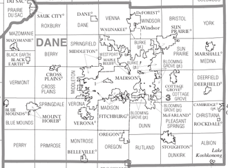 Dane County, Wisconsin - Political map of Dane County