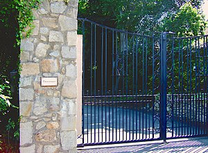 The Joshua Tree - The front gate of Danesmoate House, where much of The Joshua Tree was written and recorded.