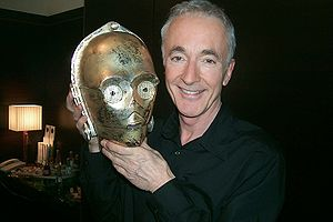 Star Wars (film) - Anthony Daniels (pictured here in 2005) was convinced to take the role of the droid C-3PO after seeing a design drawing of the character's face.