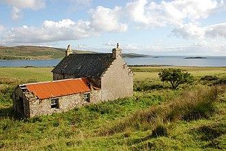 Danna, Scotland - An empty farm house on Danna