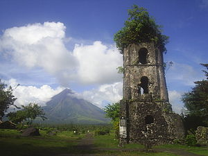The Amazing Race Australia 2 - In the Philippines, teams visited the remains of Cagsawa Church in Albay province and look up for a snake charmer.