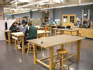 Photograph of students in a classroom at the T...