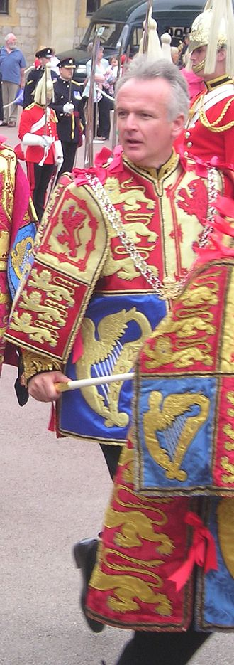 David White (officer of arms) - Somerset Herald wearing his ceremonial tabard