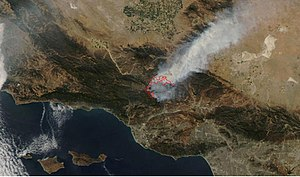 Day Fire - Day Fire as seen via MODIS satellite on September 19.